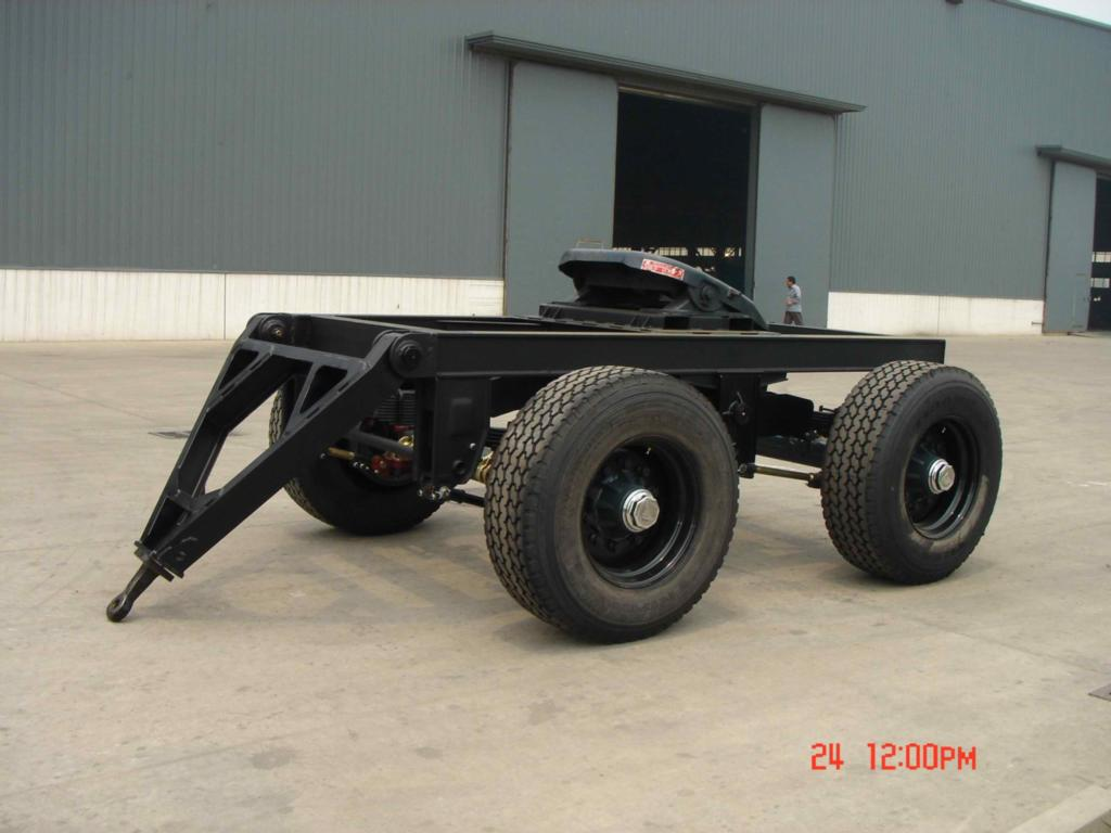 250ton Hydraulic Heavy Duty Extra Low Flatbed Truck Trailer with Dolly