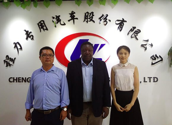 Customer from Ghana visited ChengLi for 20 units of Dump Trucks
