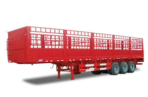 Professional 3 axles heavy duty 50 tons warehouse semi trailer