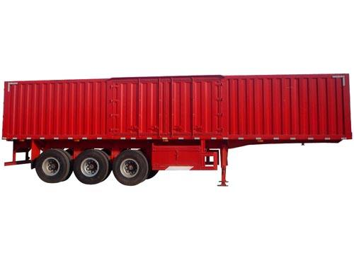 2 Axles 3 Axles Heavy Duty Type Stailess Steel Plastic Iron Frence Van Cargo Transportation Semi Trailer