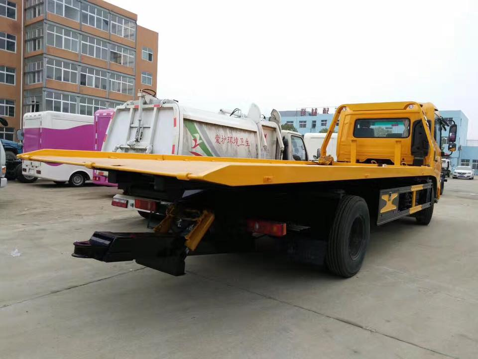 JAC 4ton 156hp 4*2 LHD flat bed wrecker truck with 4 ton crane Euro 5