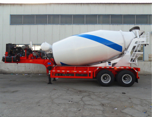 10 Cbm 2 Axle Concrete Mixer Semi Trailer