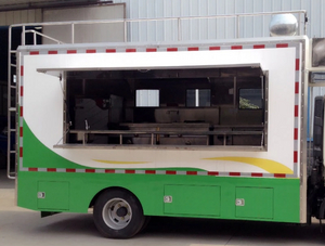 2019 Popular 4*2 Mobile Food Cart Ice Cream Business Diesel Food Truck